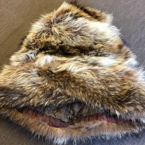 Vintage Real Raccoon Fur Hat
